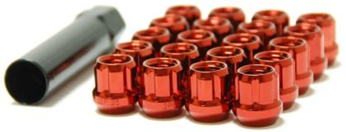 Wheel Mate Muteki Open End Lug Nuts - Red 12x1.25