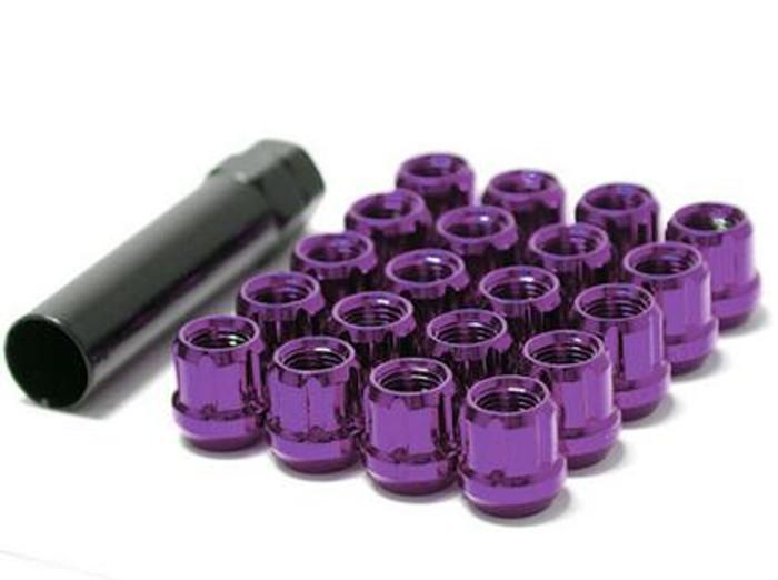 Wheel Mate Muteki Open End Lug Nuts - Purple 12x1.25
