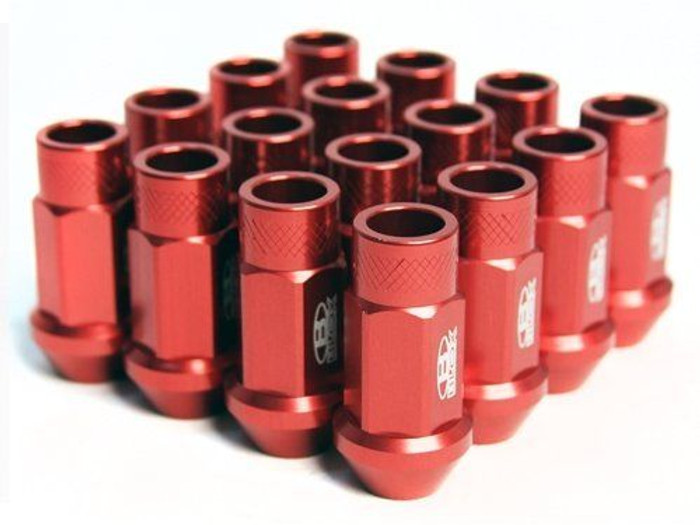 BLOX Racing Street Series Forged Lug Nuts Red 12 x 1.5mm - Set of 16