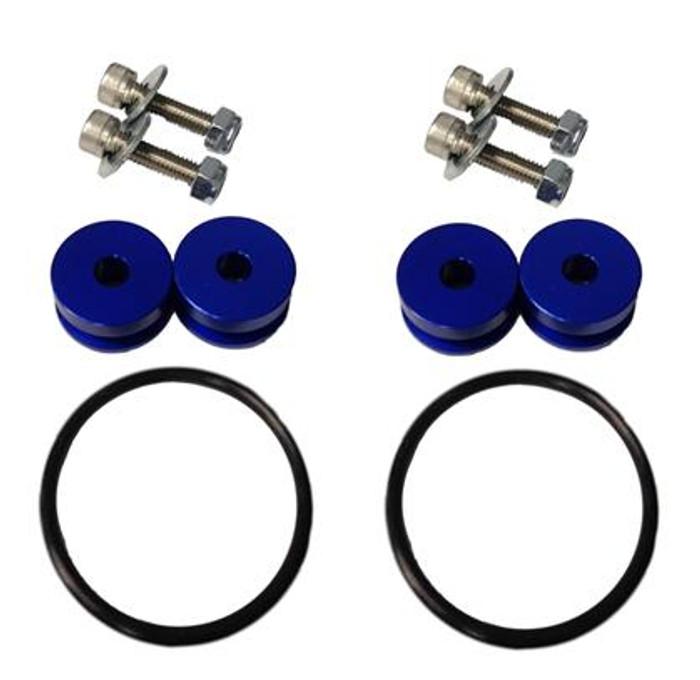 Torque Solution Billet Bumper Quick Release Kit (Blue) : Universal