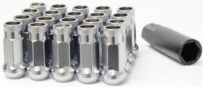 Wheel Mate Muteki SR48 Open End Lug Nuts - Silver 12x1.50 48mm