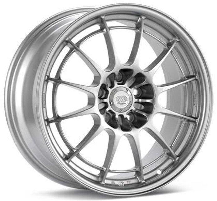Enkei NT03+M 18x9.5 5x114.3 40mm Offset 72.6mm Bore Silver Wheel