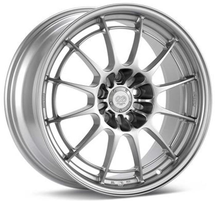 Enkei NT03+M 17x7.5 5x100 35mm Offset 72.6mm Bore Silver Wheel