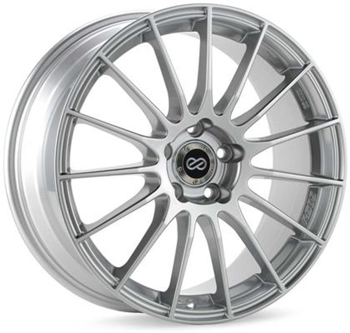 Enkei RS05-RR 17x7 4x100 Bolt Pattern 38mm Offset Sparkle Silver Wheel