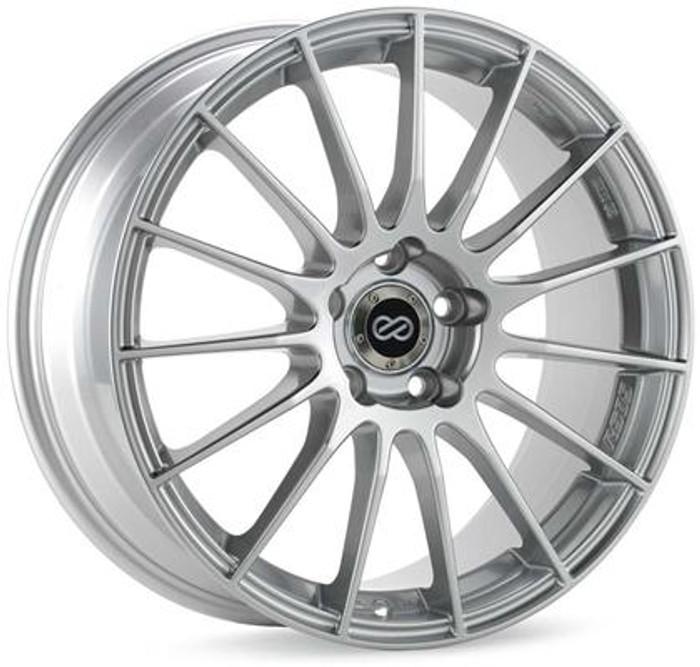Enkei RS05-RR 18x8.5 50mm Offset 5x100 Bolt Pattern 75.0 Bore Sparkle Silver Wheel