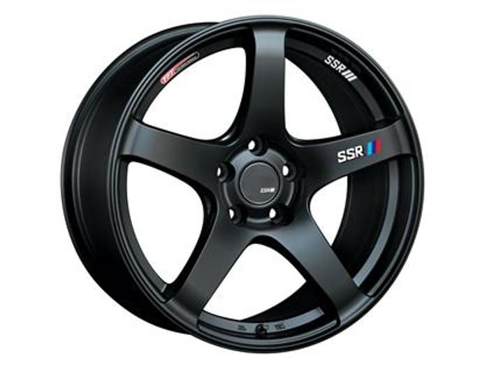 SSR GTV01 15x6.5 4x100 42mm Offset Flat Black Wheel