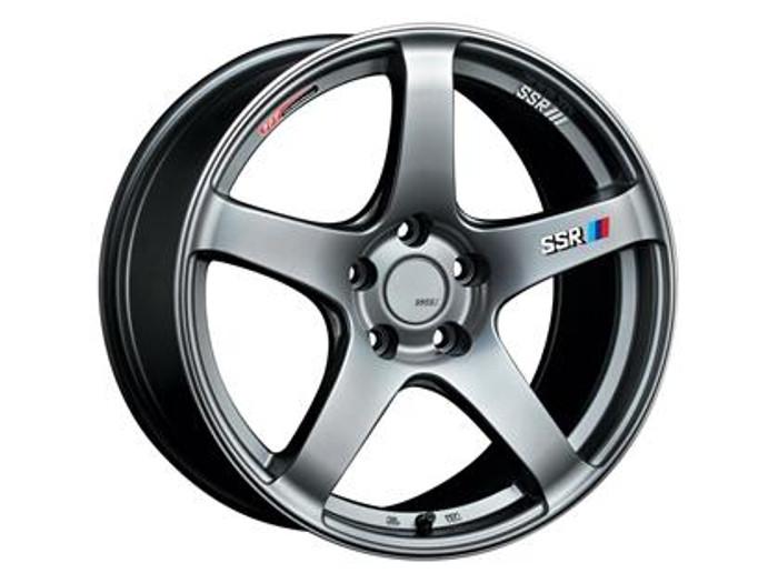 SSR GTV01 15x6.5 4x100 42mm Offset Phantom Silver Wheel