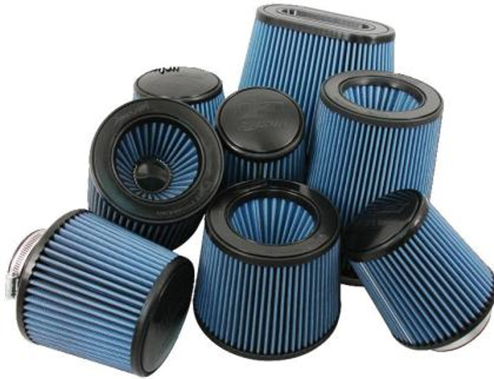 Injen High Performance Air Filter - 3.00 Black Filter 6 Base / 5 Tall / 4 Top - 45 Pleat