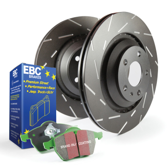EBC Green Stuff brake pads and slotted rotors