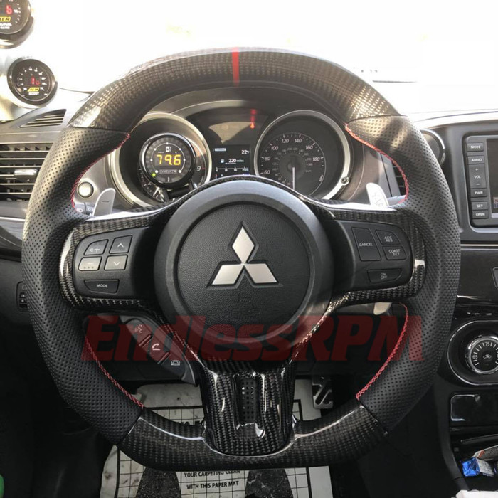Custom Steering Wheel (2008-2015 Mitsubishi Evolution)