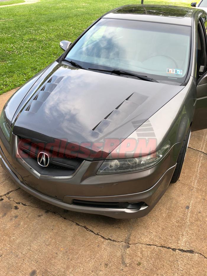 Acura TL UA6/UA7 Carbon Fiber Hood (OEM style and Vented ) - 2004-2008