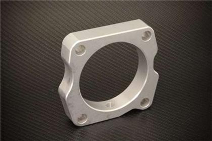 Torque Solution Throttle Body Spacer (Silver): Acura TL 2004-2008