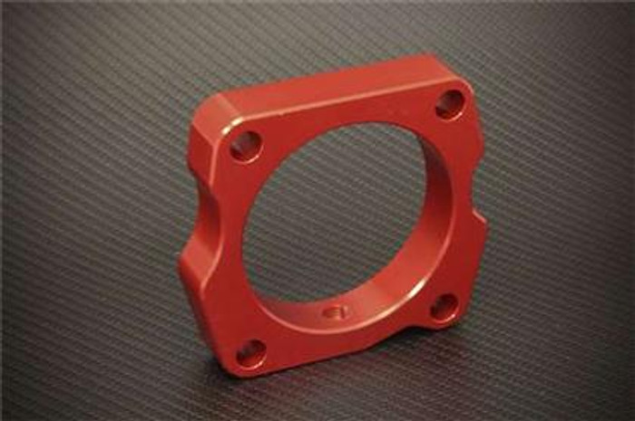 Torque Solution Throttle Body Spacer (Red): Acura TL 2004-2008