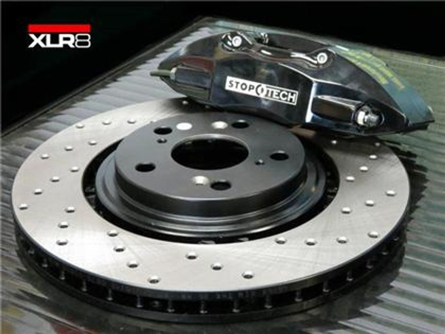 Big Brake Kit By STOPTECH With BLACK ST Calipers Xmm - Acura tl brembo calipers
