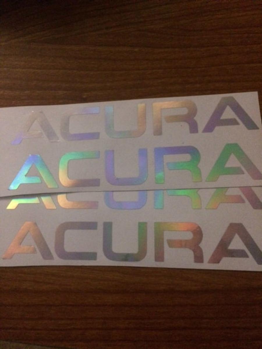 Acura TL Front Bumper Decal - Acura tl decals