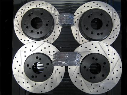 acura tl 04 08 stoptech drilled slotted rotors with stoptech rh endlessrpm com 1992 Acura TL 2004 Acura TL