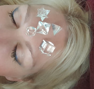 Crystal Facial rejuvenation technique alla ' Crystal junkie Jolie! Merkaba energy!