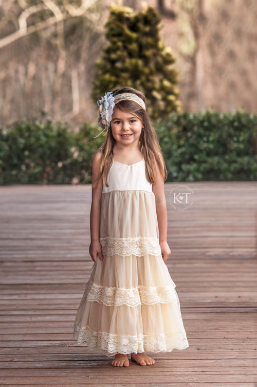 Cream Satin Sweetheart Dress