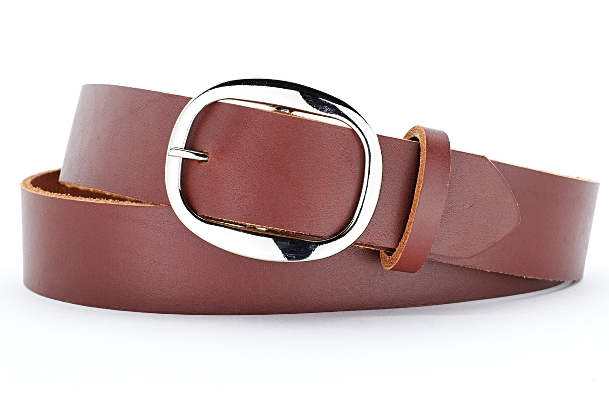 Classic Tan Brown Leather Belt