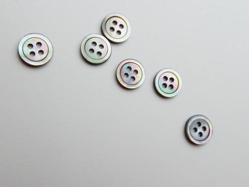 12 Light smoke shell shirt button, size 18