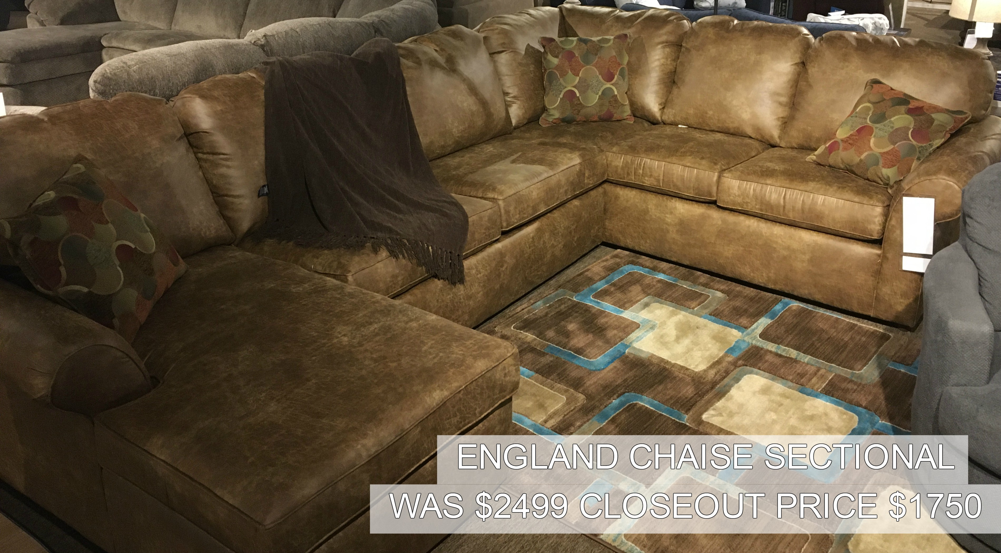 England Chaise Sectional Only $1750