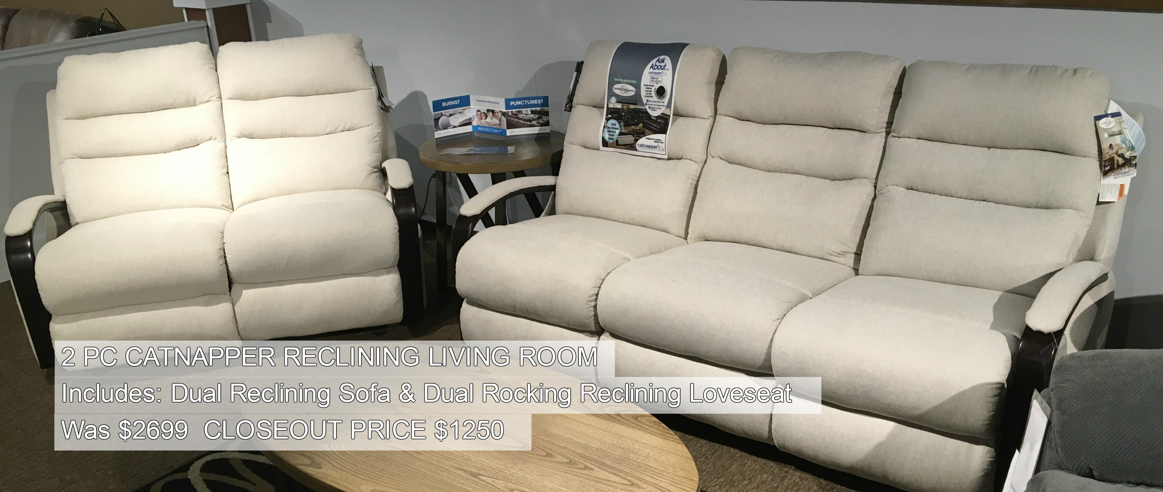 2PC Catnapper Reclining Living Room Only $1250