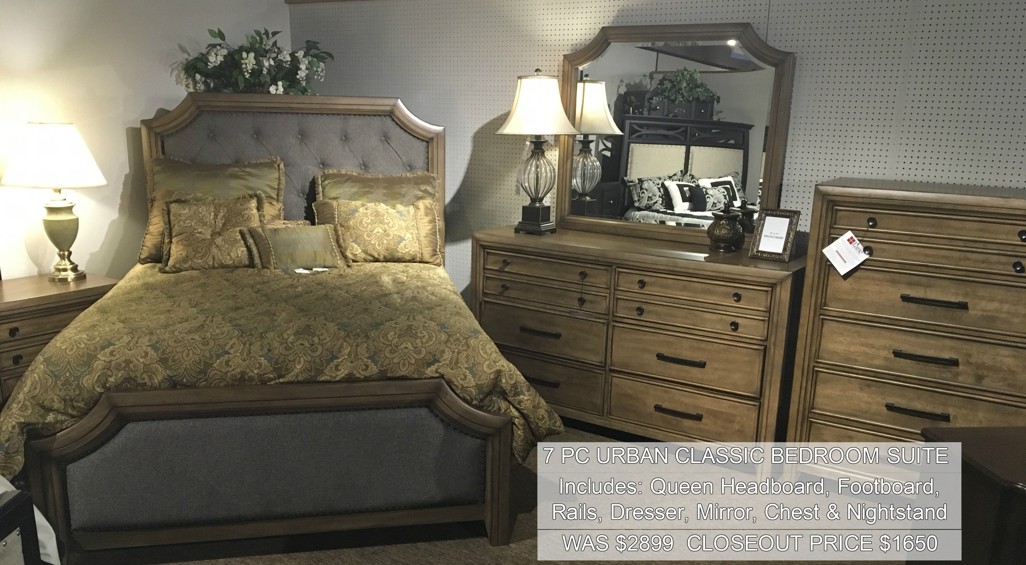 7PC Urban Classic Bedroom Suite Only $1650