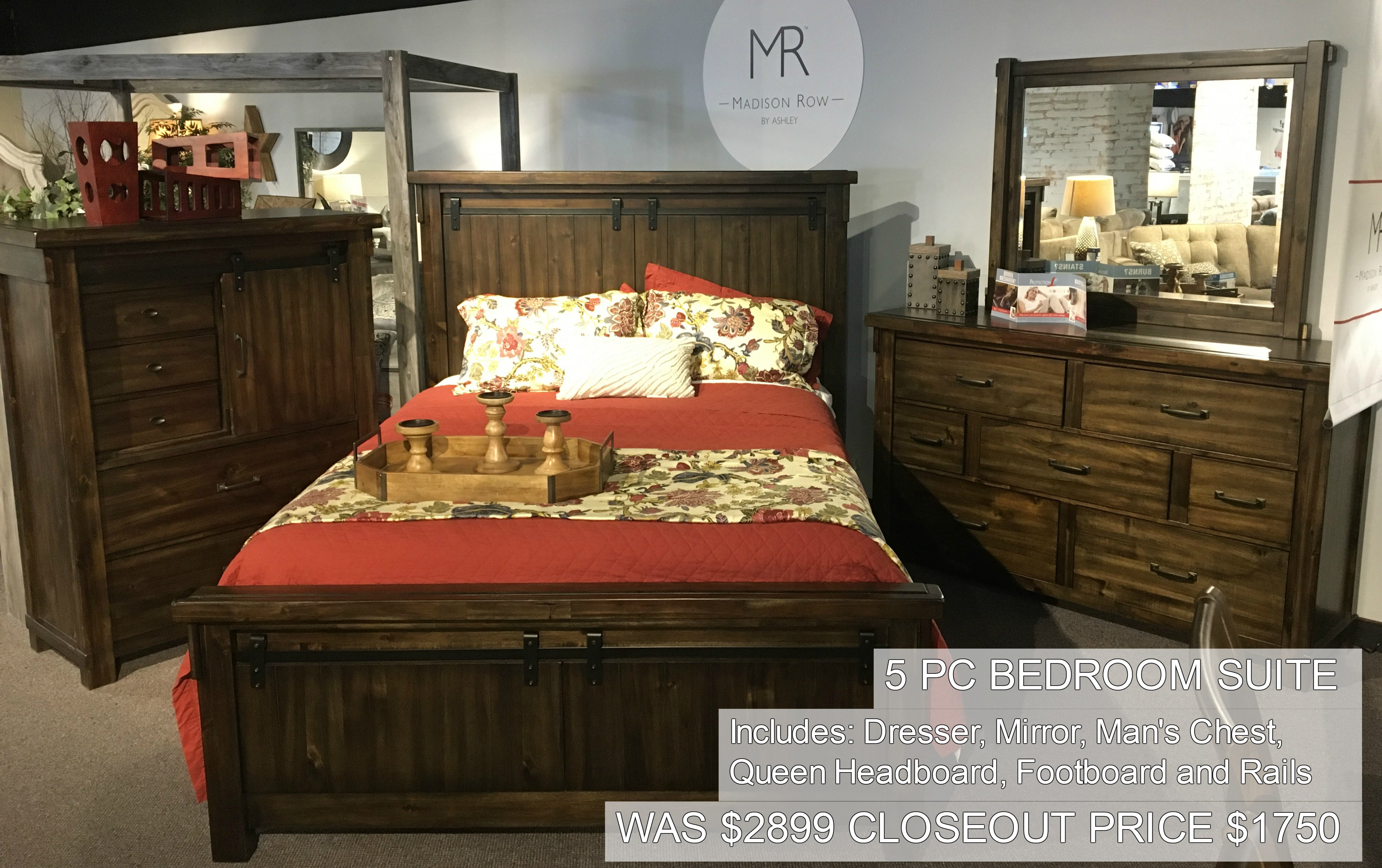 5PC Bedroom Suite Only $1750