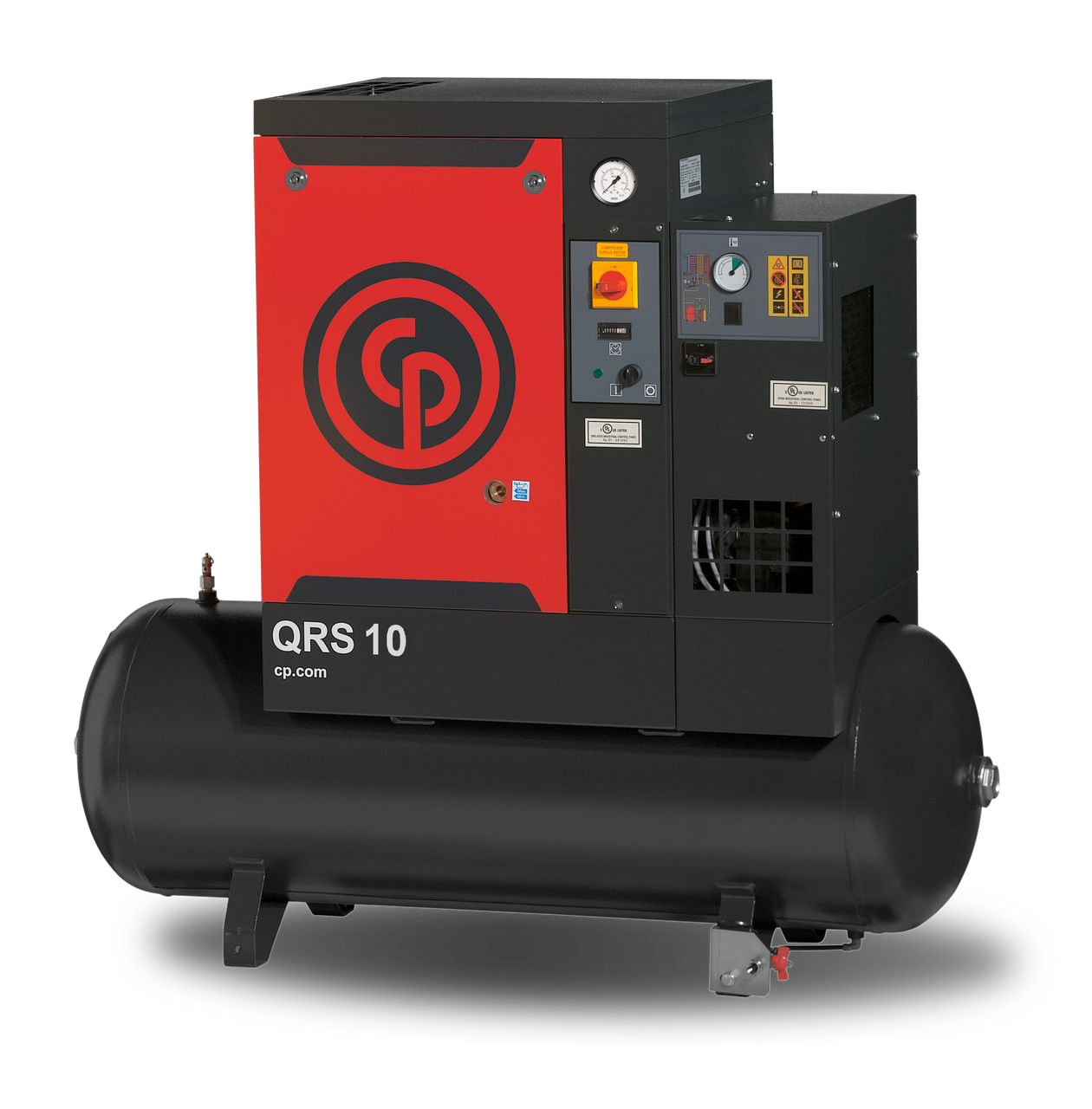 Chicago Pneumatic QRSM 10HPD TM 10 HP Tank Mounted Air Compressor with Dryer
