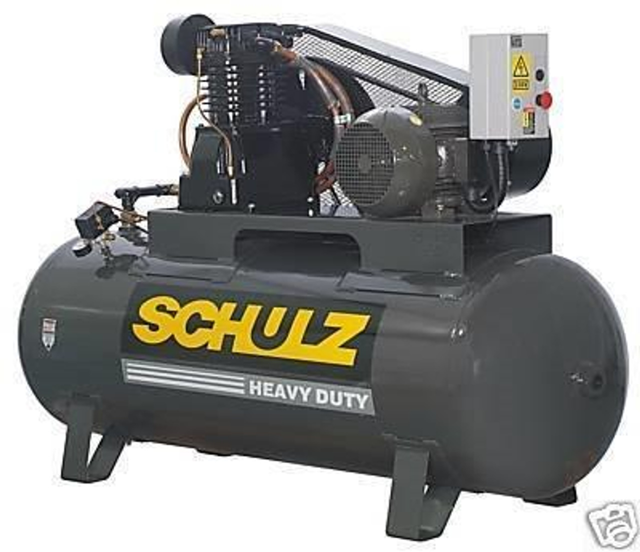 Schulz 10120HL40X-3 10 HP 460 Volt Three Phase Two Stage 120 Gallon Air Compressor