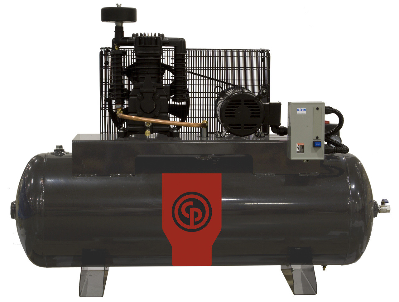 Chicago Pneumatic RCP-338HS4 5 HP 460 Volt Three Phase Two Stage 80 Gallon Horizontal Air Compressor