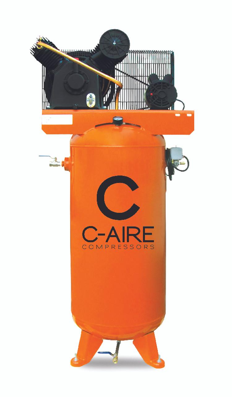 c aire model a050v60 1230 single phase 60 gallon air compressor