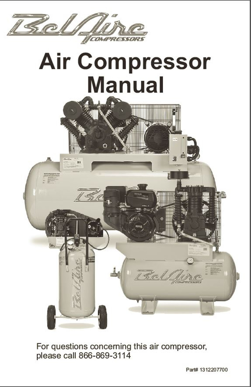 tool shop air compressor manual