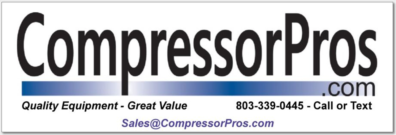 "CompressorPros Bumper Sticker 6"" x 2"""
