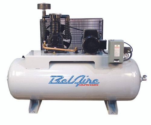 BelAire 338HLE 7.5 HP 208-230 Volt Three Phase Two Stage 80 Gallon Full Featured Air Compressor