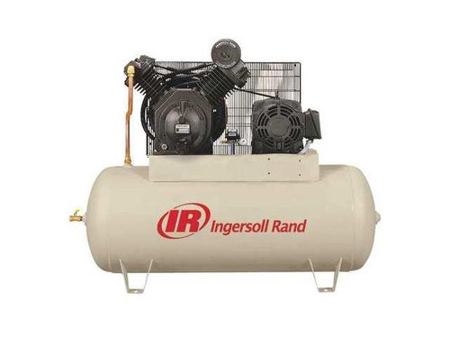 Ingersoll Rand 7100E15-P 15 HP Premium 120 Gallon Horizontal Air Compressor (200 Volt)