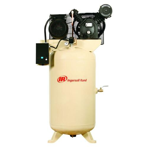 Ingersoll Rand 2475N5-V 5 HP 80 Gallon Vertical Air Compressor (230 Volt Three Phase)