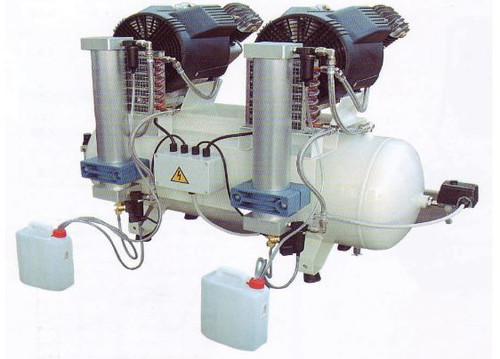 DA 3 Tandem Oil Free Air Compressor with Desiccant Dryers