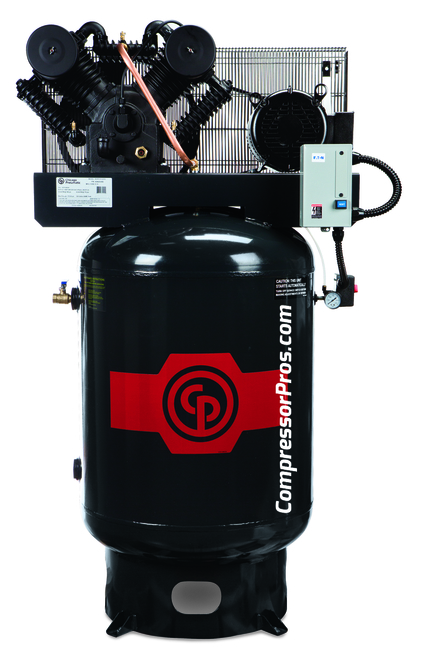 Chicago Pneumatci RCP-C10123V 10 HP 208-230 Volt Three Phase Two Stage Cast Iron 120 Gallon Full Featured Air Compressor