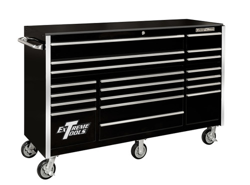 """Extreme Tools RX722519RCBK 72"""" - 19 Drawer Roller Cabinet"""
