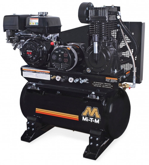 Mi-T-M AG2-SH13-30M HP Honda Air Compressor/Generator Combo with Eletric Start and Idle Control