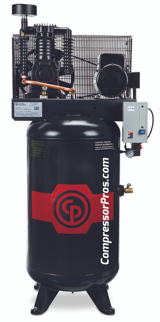 Chicago Pneumatic RCP-583V 5 HP 208-230 Volt Three Phase Two Stage 80 Gallon Full Featured Air Compressor