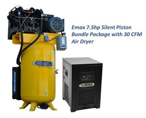 ESP07V080V3PK 7.5 HP Three Phase Air Compressor with Silencer and Dryer