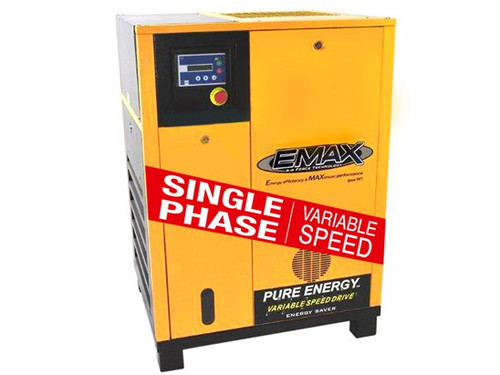 EMAX ERV0200001 20 HP Single Phase Variable Speed Rotary Screw Air Compresso