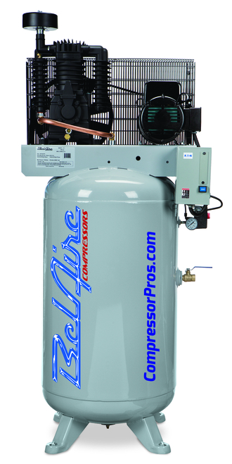 BelAire 318VL 7.5 HP 208-230 Volt Single Phase Two Stage 80 Gallon Air Compressor