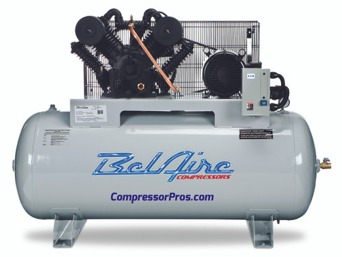 BelAire 6312H 10 HP 208-230 Volt Two Stage Cast Iron 120 Gallon Air Compressor