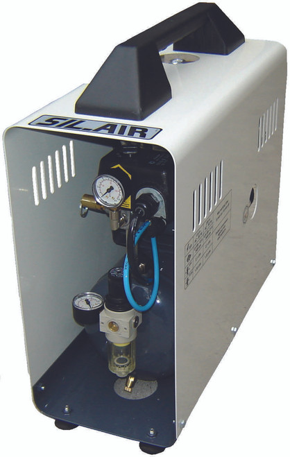 Sil-Air 50-9-D 1/2 HP 2.25 Gallon Suitcase Design Silent Air Compressor by Silentaire Technologies