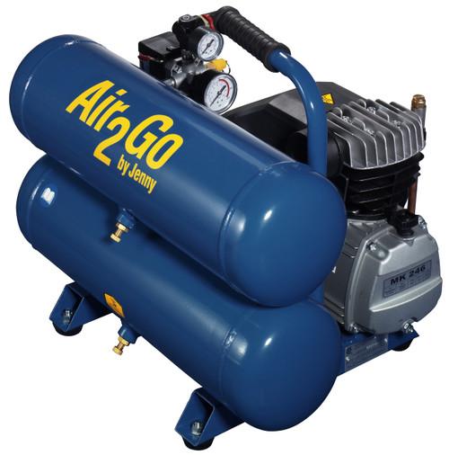 Jenny A2G246-HC4V 2 HP 115 Volt Single Stage Hand Carry Air Compressor