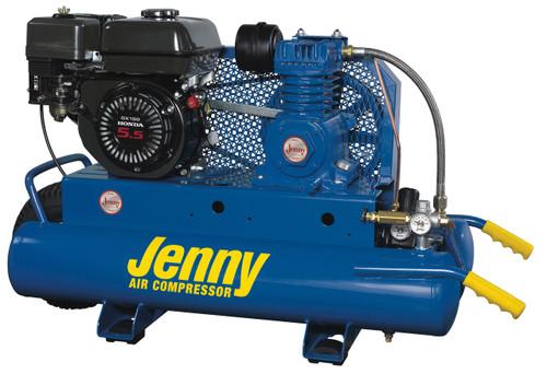 Jenny K5HGA-8P 5.5 HP Honda Gasoline Driven Single Stage Portable Air Compressor