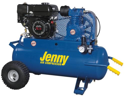 Jenny K5HGA-17P 5.5 Honda Gasoline Driven Single Stage 17 Gallon Portable Air Compressor